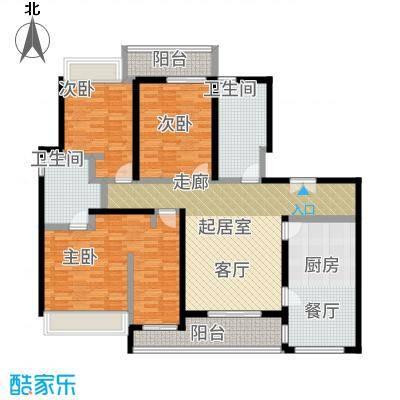 陆家嘴锦绣前城户型3室2卫1厨