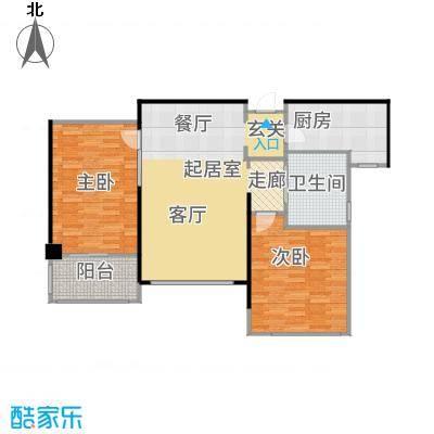花木绿城锦绣兰庭5D户型2室1卫1厨