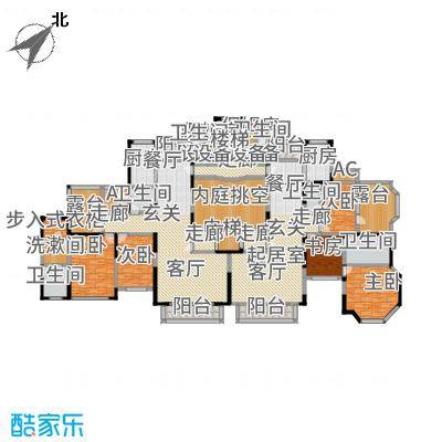 上海滩花园洋房(裕龙花园)A型\4A(2-2-2)180.14,4B(3-2-2)183.27户型