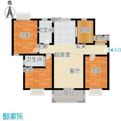 景乐南一村商品房3室2厅2卫141.7平户型-T