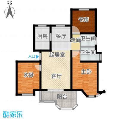 郁金香庭112.00㎡户型3室2卫1厨