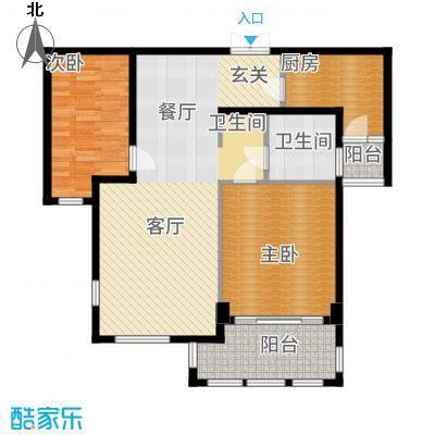 三川御锦台97.74㎡A1户型