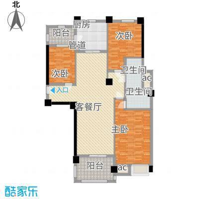 安阳碧桂园122.00㎡花园电梯洋房122m²户型