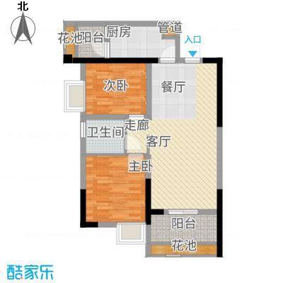 招商花园城77.00㎡A户型