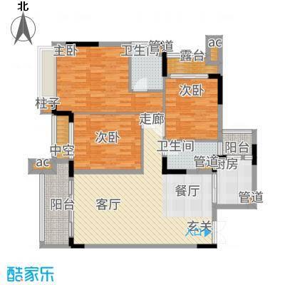 中航城113.09㎡B2标准层户型