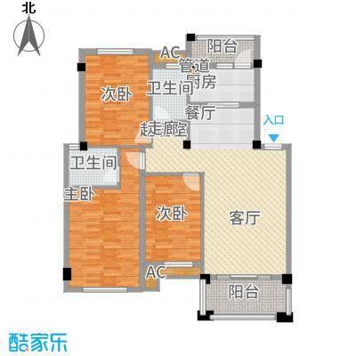 碧园未来城108.00㎡F两阳台户型