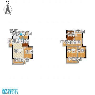 正荣财富中心133.00㎡D1复式户型