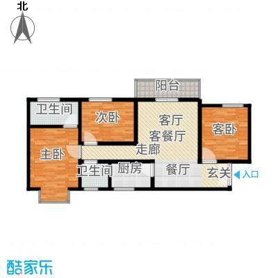 上林沣苑130.22㎡3#/14#/17#楼户型
