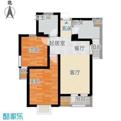 观锦92.35㎡一期高层5、6、7号楼标准层5B户型
