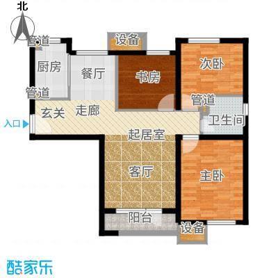 亿城堂庭107.30㎡三期19号楼标准层O户型