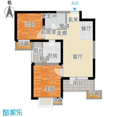 天津湾海景文苑99.00㎡高层标准层C3'户型