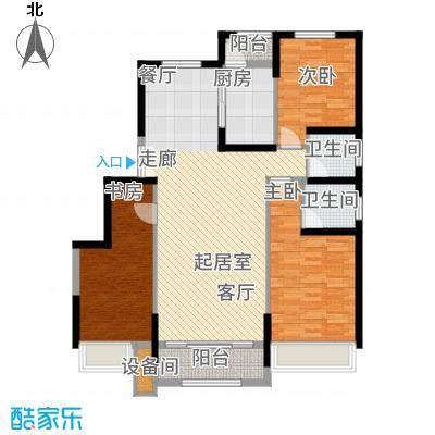 中铁诺德名苑128.00㎡洋房标准层L户型