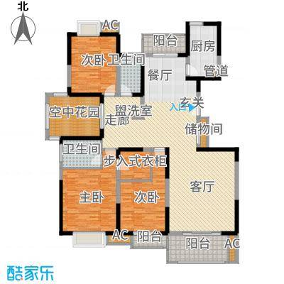 中国铁建梧桐苑178.00㎡D面积17800m户型