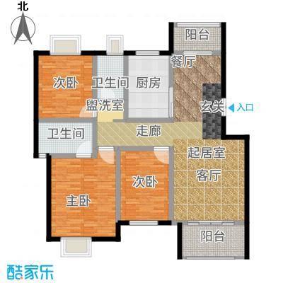 荣华水岸新城124.87㎡E2层户型