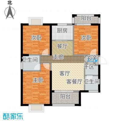 罗马景福城128.41㎡1#C户型