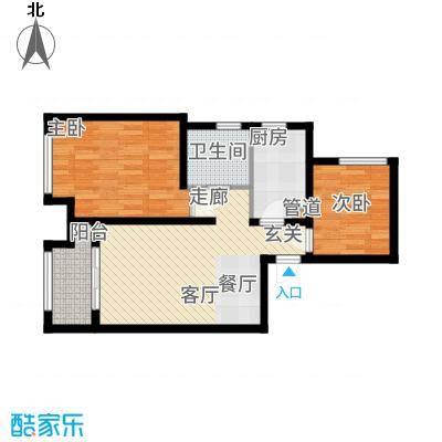 高科绿水东城68.67㎡四期繁华里H户型