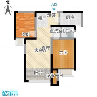 奥林匹克花园76.67㎡五期H6号楼纯南户型