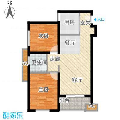 天朗蔚蓝东庭73.77㎡F户型