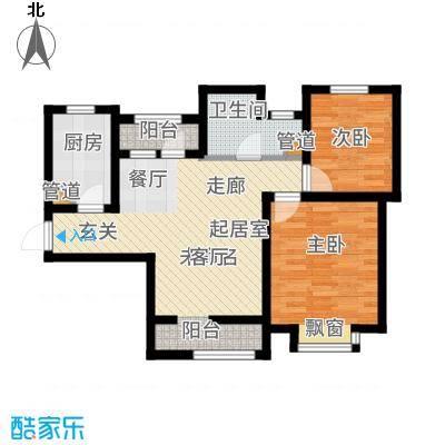 北辰新天地盛景湾92.00㎡高层12号楼2-23层B3户型