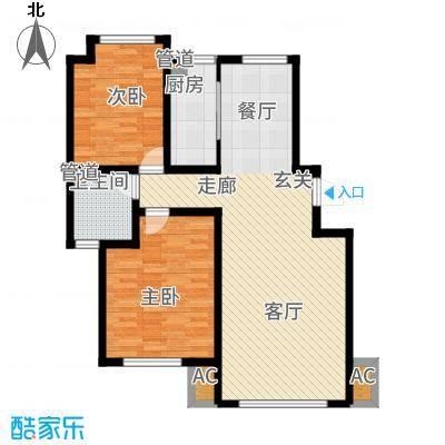 听涛苑108.00㎡16/18/19/号楼标准层C户型