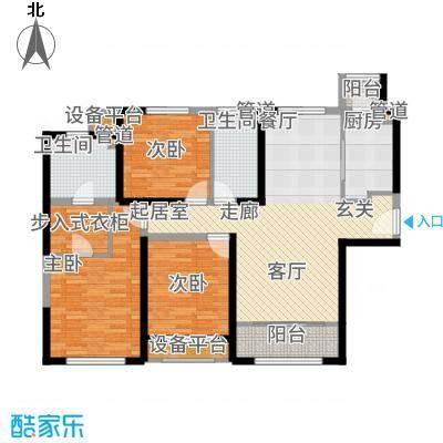 融创洞庭路壹号135.00㎡10-12、17-19号楼标准层C1户型