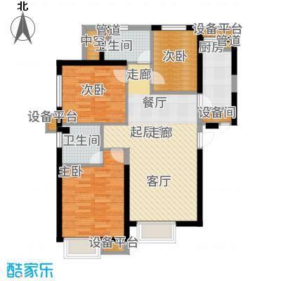 荔城公馆103.06㎡三期高层标准层M户型