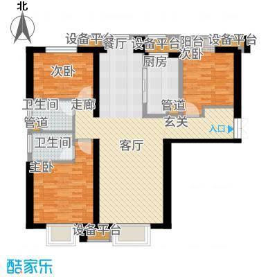 金融街和平中心141.00㎡二期高层标准层E户型