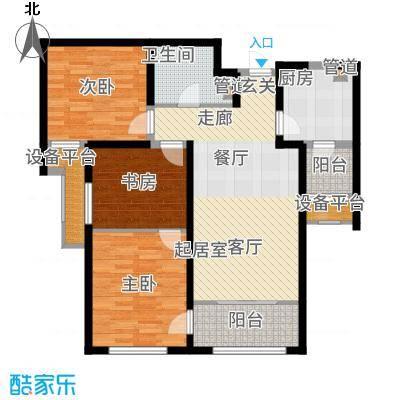 融创洞庭路壹号96.00㎡8、14、15、21号楼标准层B2户型