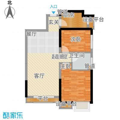 荔城公馆88.06㎡三期高层标准层N2户型