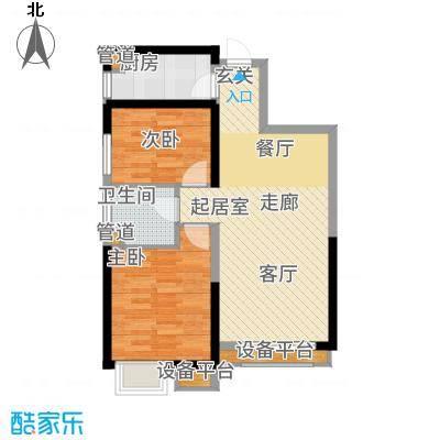 荔城公馆83.53㎡三期高层标准层Q1户型