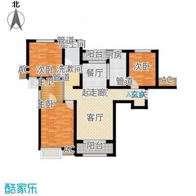 奥克斯盛世年华125.34㎡2、3号楼标准层A1户型
