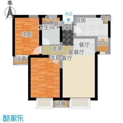 融创中央学府90.00㎡一期8、10号楼标准层B户型