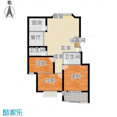 聚鑫旺园120.00㎡鑫旺园3居室户面积12000m户型