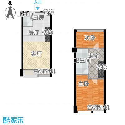 枫景国际公寓36.00㎡1#楼A户型