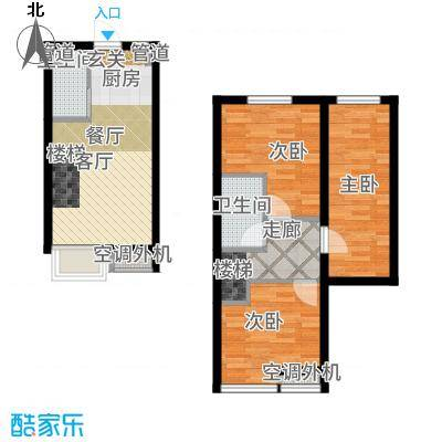 枫景国际公寓36.00㎡1#楼C户型