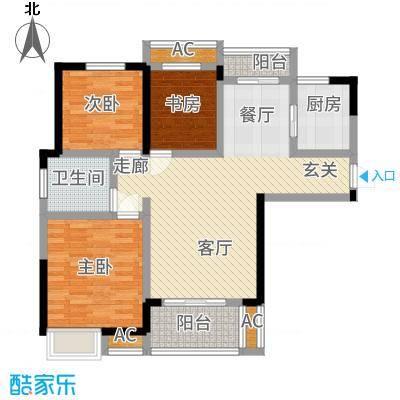 中国铁建梧桐苑105.00㎡6号楼E1户型
