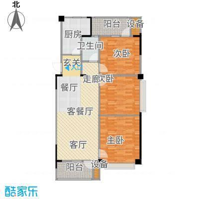 汉阳满庭春MOMΛ104.00㎡1、2、3、5、6、7#楼B户型