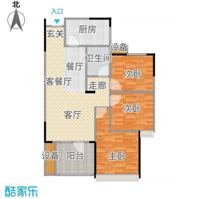 汉阳满庭春MOMΛ88.80㎡2、5、7、8#楼C户型