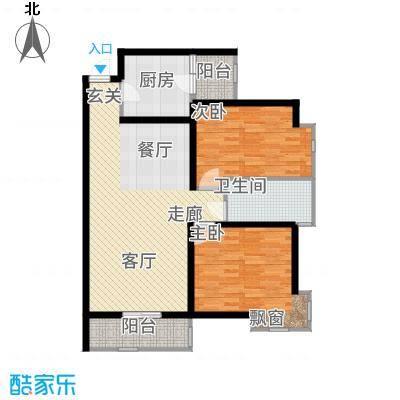 锦绣泉城96.00㎡5栋B(售完)面积9600m户型