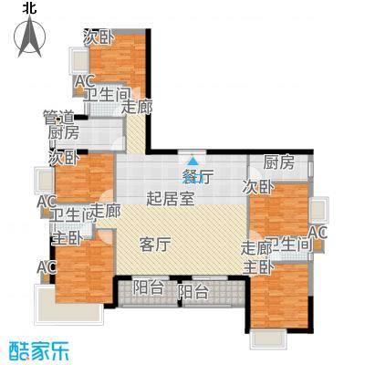 金碧湾170.84㎡9-AB单元5室3面积17084m户型