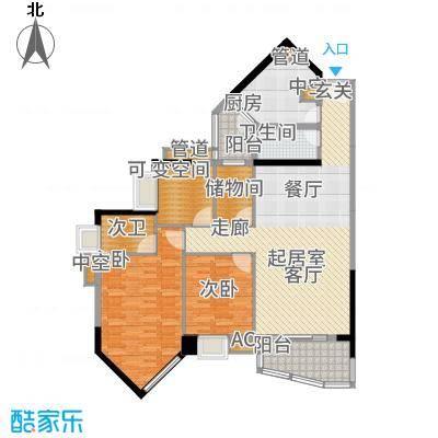 逸景翠园倚翠轩127.00㎡面积12700m户型