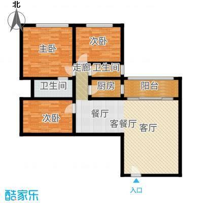 朝晖苑108.00㎡面积10800m户型