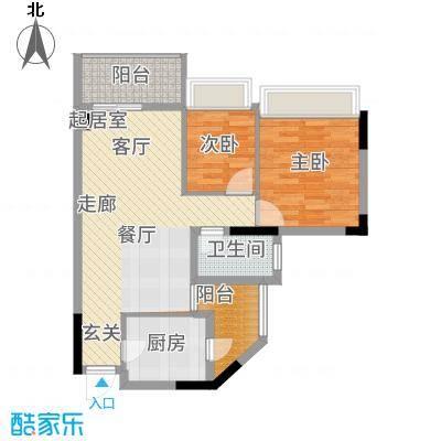 丽江花园康城居72.00㎡户面积7200m户型