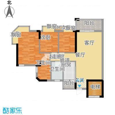 海伦堡御院94.30㎡15座1梯5层6单面积9430m户型