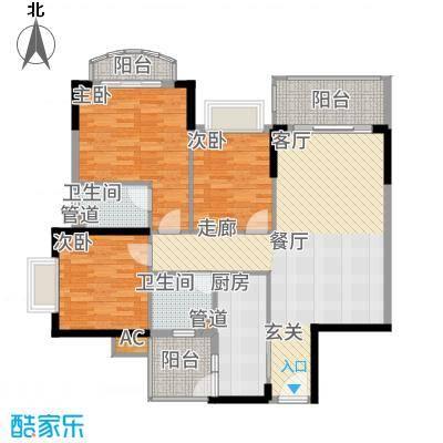 锦绣御景苑107.41㎡1栋03/04单位面积10741m户型
