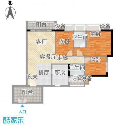 珠江俊园121.71㎡3面积12171m户型