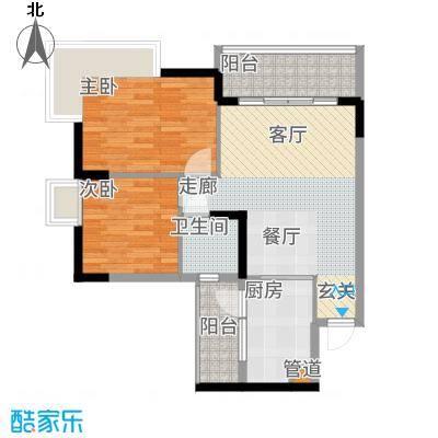 泓景花园71.42㎡B2栋2层5单位2面积7142m户型