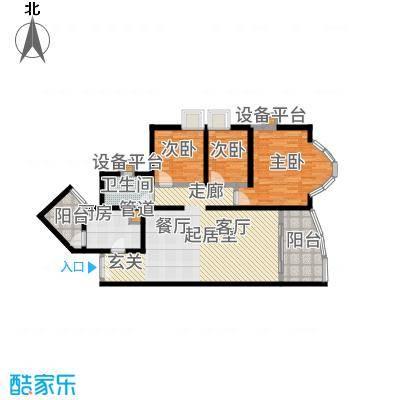 祈福新村晓峰园105.00㎡户面积10500m户型