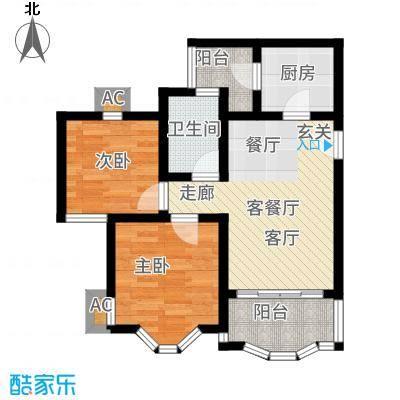 祈福新村康怡居61.00㎡户面积6100m户型