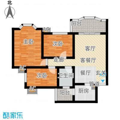 祈福新村康怡居88.00㎡户面积8800m户型